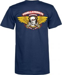 Powell-Peralta Winged Ripper T-Shirt, Navy, Large