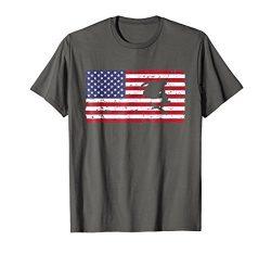 Mens American Flag Skateboarding T-shirt Skateboard Gift Top Tee Medium Asphalt