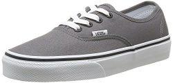 Vans Authentic Unisex Skate Trainers Shoes Pewter/Black 11.5 B(M) US Women / 10 D(M) US Men