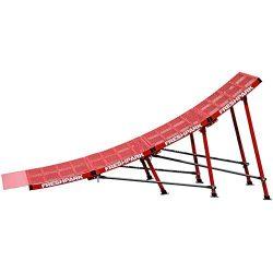 FreshPark Ricky Johnson Portable Moto and Bike Jump Ramp (Red, Large)