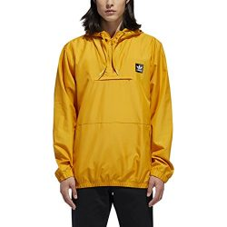 adidas Originals Men's Skateboarding Hip Packable Jacket, Tactile Yellow, XL