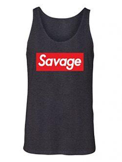 Manateez Men's Savage Skateboarding Tank Top Large Charcoal
