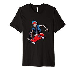 Best Skateboarding T-Shirt Gift,skeleton/skull T-Shirt