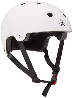 Triple 8 Brainsaver Glossy Helmet with Standard Liner (White Gloss, Small)