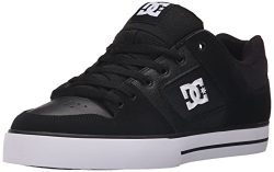 DC Men's Pure Shoe, Black/Black/White, 11.5D D US