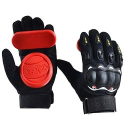 IMPORX Standard Longboard Downhill Slide Gloves Skate Gloves with 2 Set Replaceable Slider Puck  ...