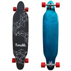 RIMABLE 42 Inch Freestyle Topmount Longboard BLUERED