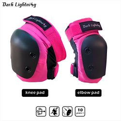 Girl's and Boy's Knee pad and Elbow pads 2 in 1 Protective Gear Set, Junior/Teenager ...