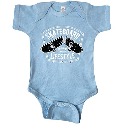 inktastic – Skateboard Lifestyle Infant Creeper 6 Months Baby Blue