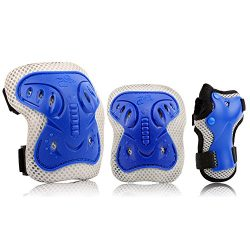 Kids Protective Gear Set, Safety Pad Safeguard Support Pad for Knee, Elbow Pads and Wrist Guards ...