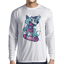 lepni.me Long Sleeve t Shirt Men Skater Fox -Streetwear, Urban Clothing, Skateboarding Clothes,  ...