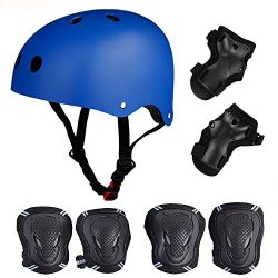 Skateboard / Skate Protection Pads Set with Helmet–SymbolLife Helmet with 6pcs Elbow Knee  ...