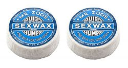 Sex Wax Quick Humps Mr Zogs Surfboard Wax (6X Extra Hard – Blue Twin Pack)