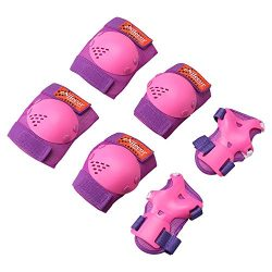 eNilecor Kids/Youth Rollerblade Roller Skates Cycling Knee Pads Elbow Pads Wrist Guards Protecti ...