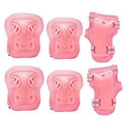 PAMASE Knee Elbow Wrist Protective Pads for Kids – Sports Safety Pads Set for Rollerblade, ...