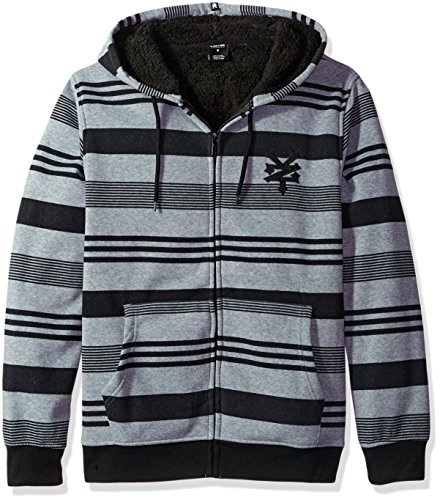 Zoo York Men's Long Sleeve Sherpa Hoodie, Lineage Quiet Shade Heather, X-Large