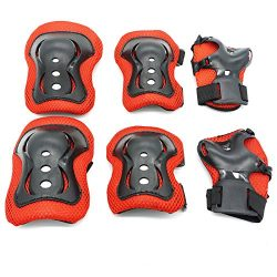 Kids Protective Gear,Knee Pads Elbow Pads Wrist Guards 3 In 1 set For Inline Roller Skating Biki ...