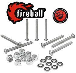 Fireball Dragon Stainless Steel Skateboard Hardware Set (Button Allen, 2.0″)