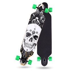 LAZYMOON 41″ X 10″ Professional Long Board Skateboard Cruiser Through downhill 9 Lay ...