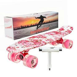 Landwalker 22″ Complete Skateboard Banana Cruiser Galaxy Skateboards Boys Girls Kids Board ...