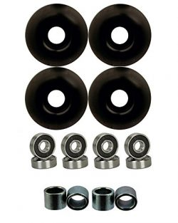 52mm Wheels w/ Bearings & Spacers (Black)