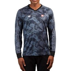 adidas Originals Men's Skateboarding Mhak All Over Print Jersey, Black/Onix, S