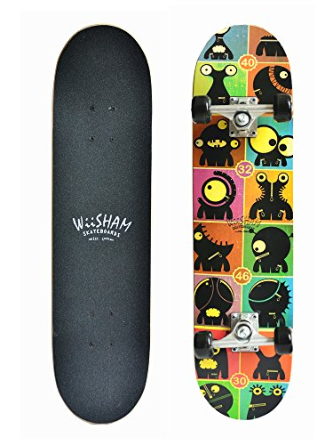 Xtreme Free Skateboards Pro 31 inches Complete Skateboards for Teens, Beginners, Girls,Boys,Kids ...