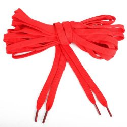 Extra Long Canvas Sneaker Punk Skate Shoes Laces, Red