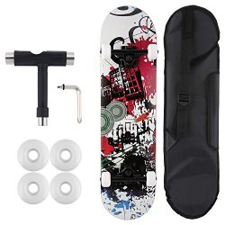WeSkate Pro Skateboard Set for Adult Kids Age 5 up – 31 inch 9 Layer Russian Maple Wood Co ...