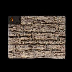 SHJNHAN 3D Foam Rock Reptile Stone Aquarium Background Backdrop, Fish Tank Board Decor (A)