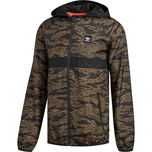 adidas Originals Men's Skateboarding Camo All Over Print Packable Wind Jacket, Camo Print/ ...