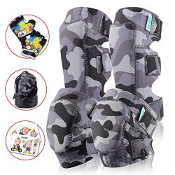 Innovative Soft Kids Knee and Elbow Pads Plus BONUS Bike Gloves | Toddler Protective Gear Set |  ...