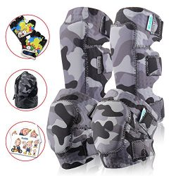 Innovative Soft Kids Knee And Elbow Pads Plus Bike Gloves | Toddler Protective Gear Set | Comfor ...