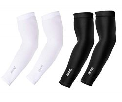Aegend Arm Sleeves UV Cooling Sleeves Arm Cover Sun-Protection for Men Women Youth, (Black& ...