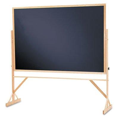 Quartet Reversible Black Melamine Chalkboard, 4 x 6 Feet, Includes Accessory Rail, Hardwood Fram ...