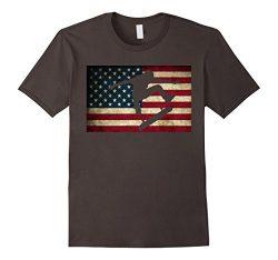 Mens Skateboarding T Shirt Skater Skate Board American Flag Tee 2XL Asphalt