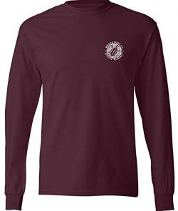 Joe's USA Koloa Surf(tm) Hawaiian Turtle Logo Long Sleeve T-Shirt-Athletic.Maroon-S