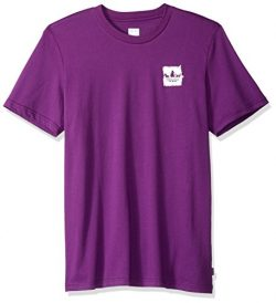 adidas Originals Men's Skateboarding Brushstroke Tee, Tribe Purple/Real Teal/Tactile Yello ...