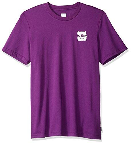 adidas Originals Men's Skateboarding Brushstroke Tee, Tribe Purple/Real Teal/Tactile Yello ...