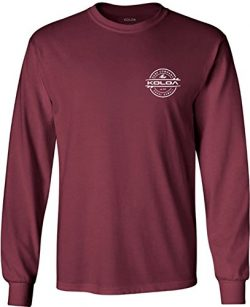 Koloa Surf(tm) Long Sleeve Thruster Logo Heavy Cotton T-Shirt-Maroon/w-M