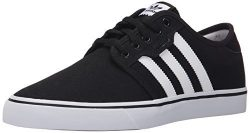 adidas Originals Men's Seeley Skate Shoe,Black/White/Gum,10.5 M US