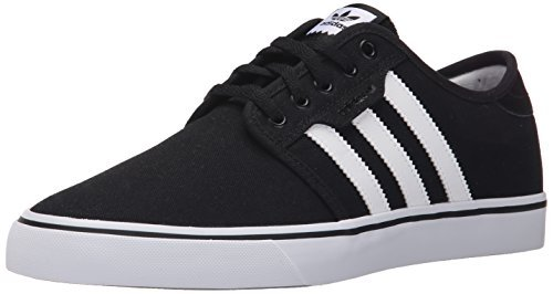 adidas Originals Men's Seeley Skate Shoe,Black/White/Gum,10.5 M US