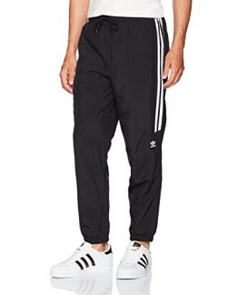 adidas Originals Men's Bottoms Skateboarding Classic Wind Pants, Black/White, Large