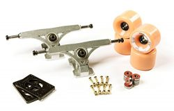 LONGBOARD TRUCKS COMBO set 71mm SHR WHEELS + 9.675″ freeride trucks Package by Volador (ro ...