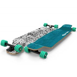 Shark Wheel Fathom Long Drop Daydreamer Longboard, Teal