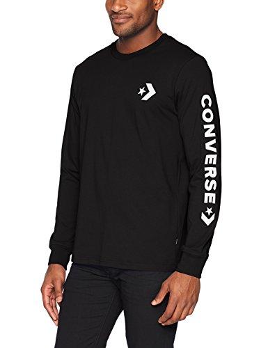 Converse Men's Star Chevron Wordmark Long Sleeve T-Shirt, Black, M