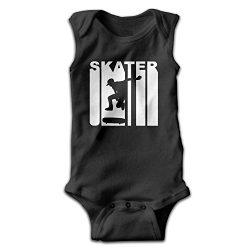 BCoolBodysuit Retro Skater Skateboarding Baby Bodysuit Cute Baby Onesies Rompers Bodysuit For Bo ...