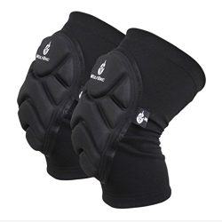 A Pair Unisex Adult Crashproof Safety Knee Elbow Pads Leg Sleeves Brace Safeguard Support Guard  ...