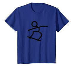 Kids Skateboard Skateboarding Stick Figure T-Shirt 10 Royal Blue