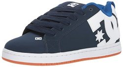 DC Men's Court Graffik Skate Shoe, Navy/Royal, 11 Medium US